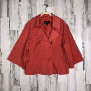 Sharagano Womens Coral Button Jacket Size L